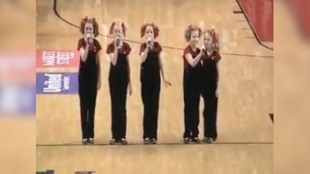 Five sisters sing National Anthem in perfect harmony and we've never heard it sung better