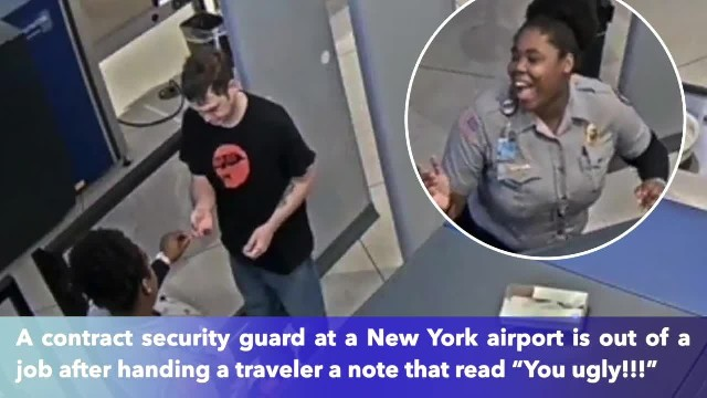Contract Airport worker fired for slipping 'you ugly' note to traveler