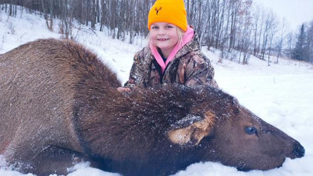 8-year-old girl becomes youngest person on record to shoot an elk in Michigan