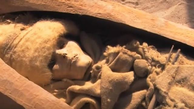 Perfectly preserved 4000-year-old mummies found in china- but they aren't of Chinese origin.
