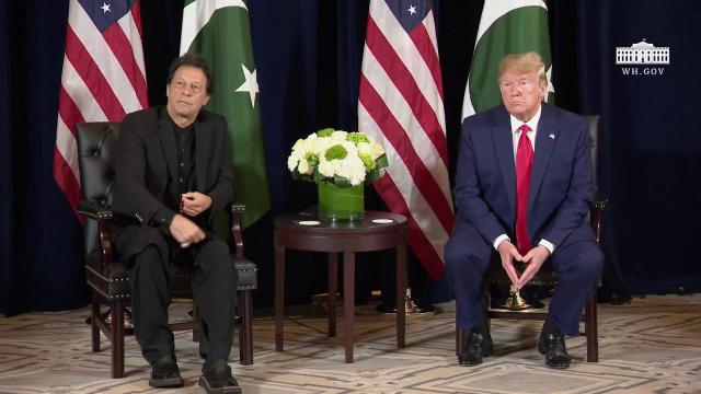President Trump Participates in a Bilateral Meeting with the President of Pakistan