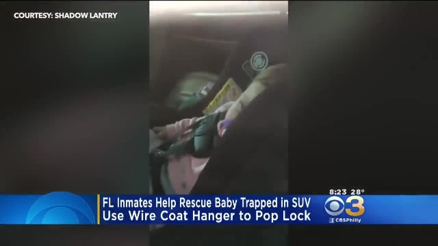 Police Officers, Inmates Rescue Toddler From Locked SUV In Florida