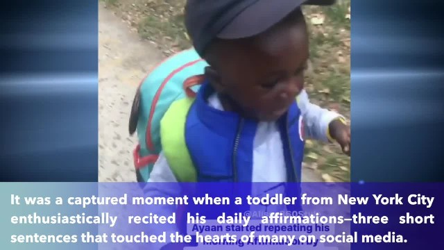 Video of a 3-year-old boy reciting his daily affirmations on his way to school goes viral