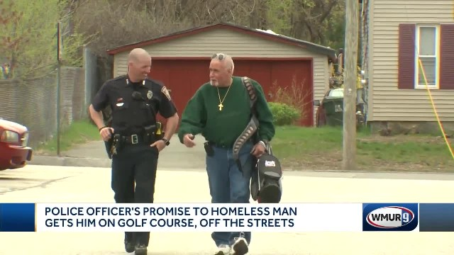 Police officer's heartwarming promise to homeless man gets him off streets and into rehab