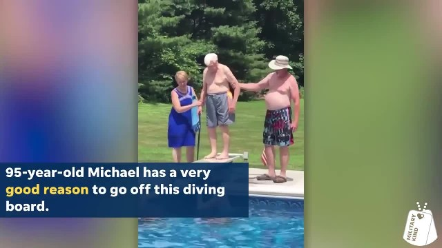 Watch 95-Year-old Air Force Veteran Show Little Boy How to Be Brave on the Diving Board