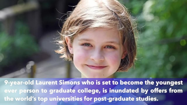 First 9-year-old boy genius to graduate university