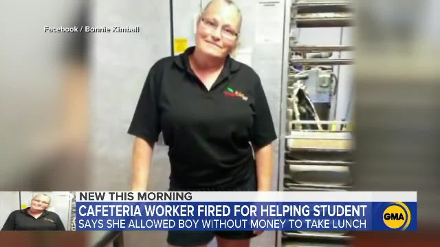 Cafeteria worker fired after letting student not pay for his lunch