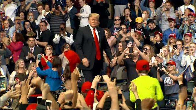 President Trump Rallies in Michigan to standing room only