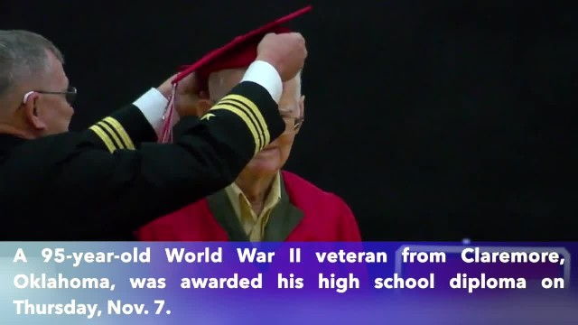 World War II veteran, 95, awarded high school diploma in Oklahoma