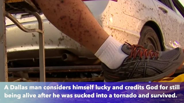 'It just crushed me' says 53-year-old Dallas man who survives being sucked into EF3 tornado