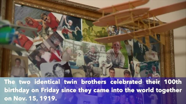 World War II twins celebrate 100th birthday together