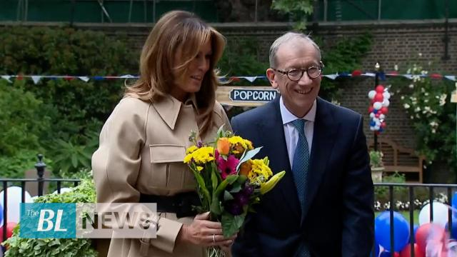 Melania Trump, Philip May throw garden party at Downing Street