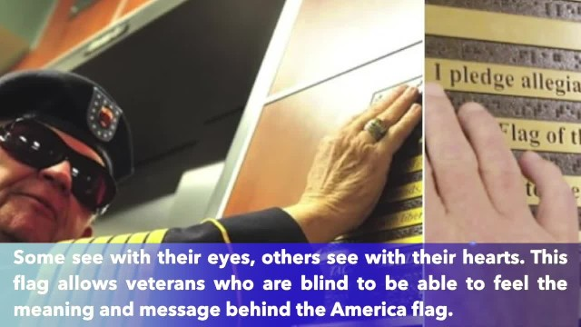Bronze Braille flag recognizes the millions of veterans who cannot see the symbol they fought to pro