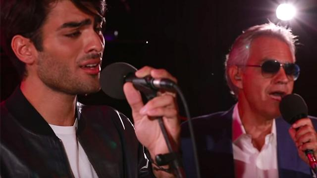 Andrea Bocelli and handsome son sing Ed Sheeran megahit leaving fans swooning