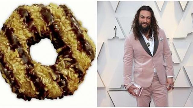 Girl Scout turns Samoa cookies into Jason Momoa cookies and fans immediately buy every box