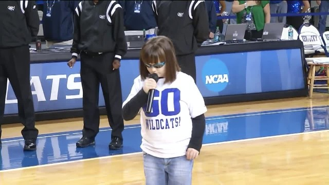 This Girl is Blind and Autistic but she Rocks The National Anthem and Gains a Standing Ovation