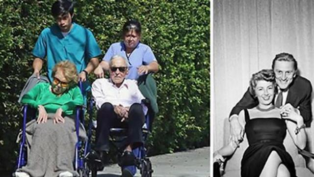 Hollywood star Kirk Douglas and Anne Buydens still very much in love after 64 years of marriage