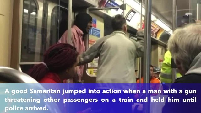Good Samaritan disarms man robbing people on train, holds him for police