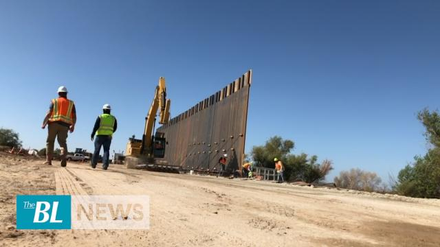 Construction of new border wall begins near Yuma Arizona