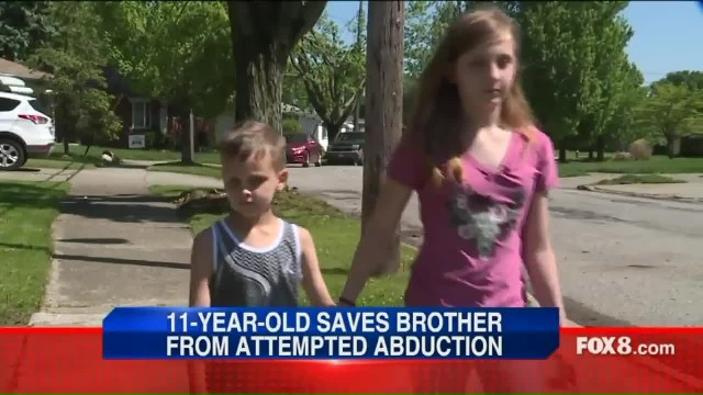 Stranger drags boy from yard when 11-year-old sister uses parents' lesson to thwart evil plan