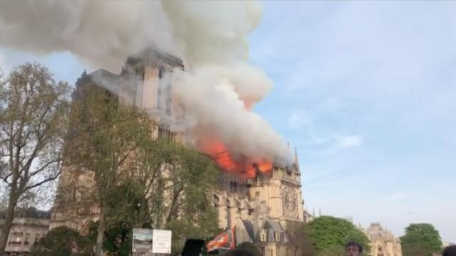 Huge Fire At Paris Notre Dame Cathedral