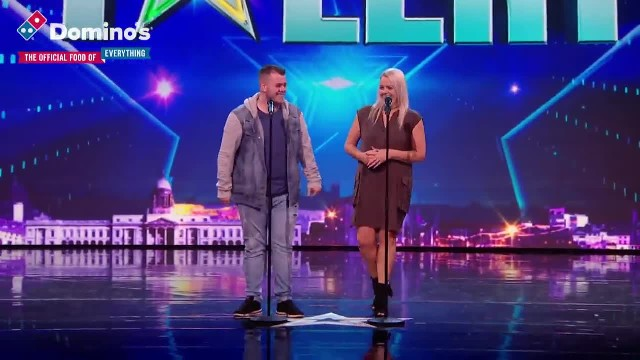 Lucy presses her Golden Buzzer for mother & son duo Sharon and Brandon Ireland's Got Talent 2019