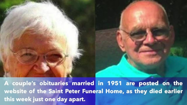 Married 68 years, husband and wife die one day apart