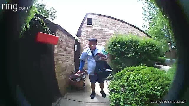 Doorbell cam shows cruel mailman pepper-spraying defenceless