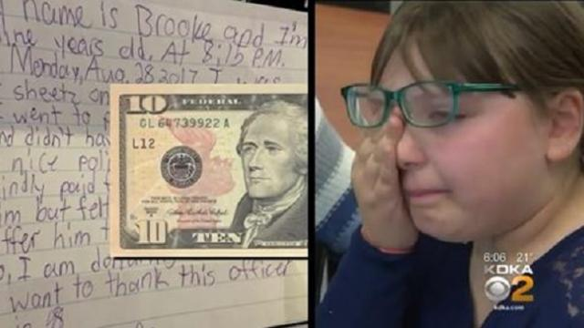 State police receive letter from 9-year-old girl with $10 bill stuffed inside