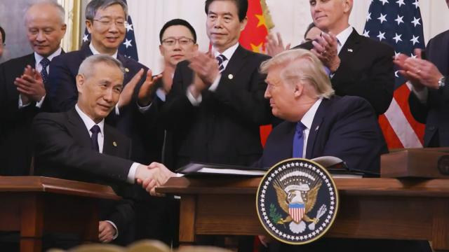 President Trump signs phase one Trade Deal with China