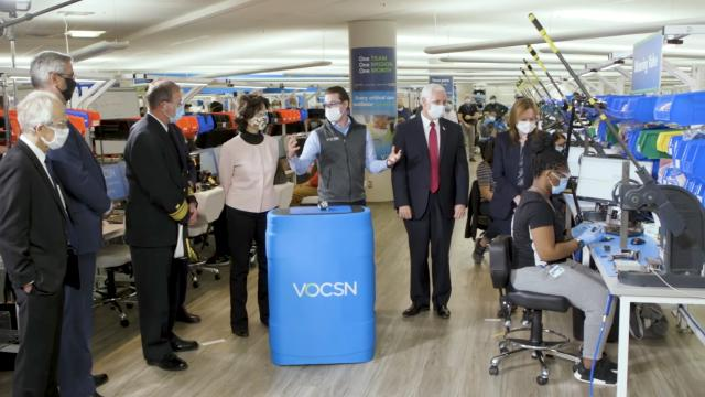 V.P. Mike Pence tours GM and Ventec's ventilator facility