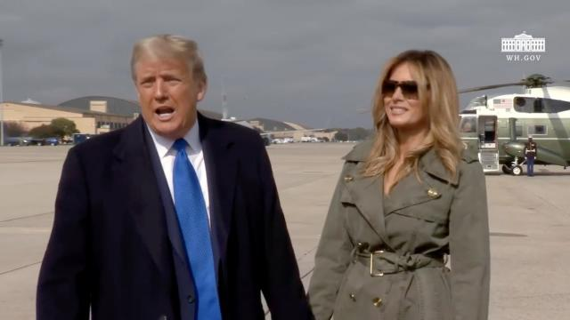 10:27:20 President Trump delivers remarks upon departure from joint base Andrews