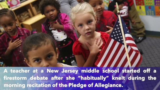 School reassigned teacher after she took a knee during Pledge of Allegiance