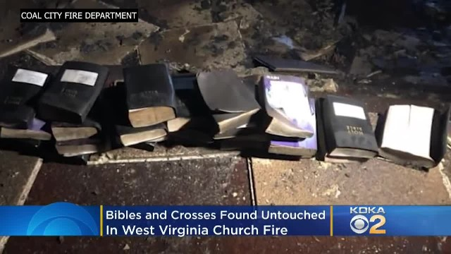 Church fire reaches more than 970 degrees - but doesn't burn a single bible