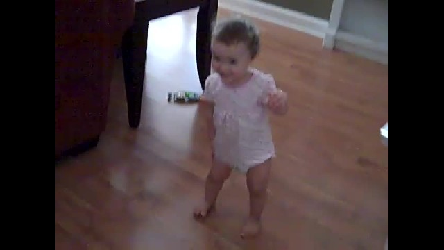 This Little Baby Girl Can't Bear To Spend A Minute Without Her Daddy: She Delightedly Jumps On Him W