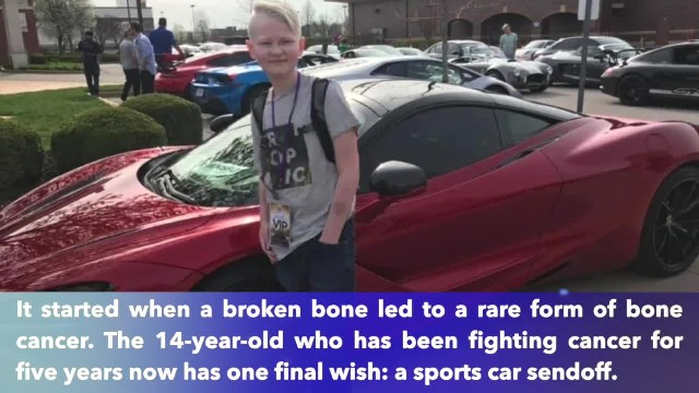 14-year-old battles cancer, final wish is a funeral procession full of sports cars