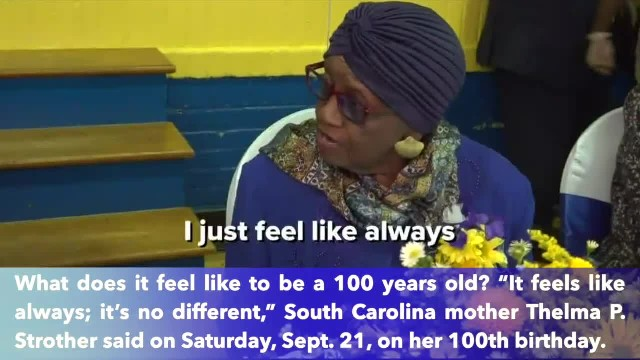 South Carolina mother shares her secret on 100th birthday.