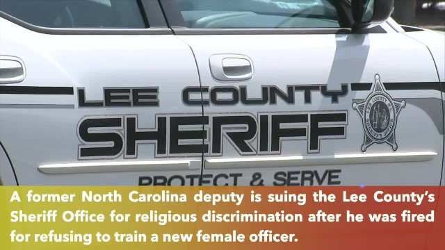 Fired officer says he fired after refusing to train female officer, because of his Christian beliefs