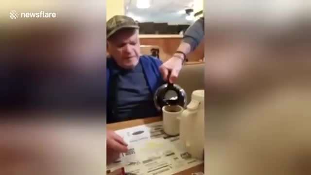 Registered Blind Vet Is Confused At Waiter's Questions Until He Discovers Who It Is…