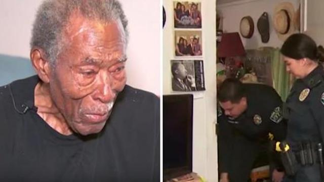 92-yr-old calls cops about thief but when cops arrive for report can't ignore distressing sight insi