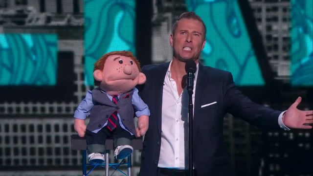 Ventriloquist gets angry and leaves the stage, but don't take your eyes off his dummy