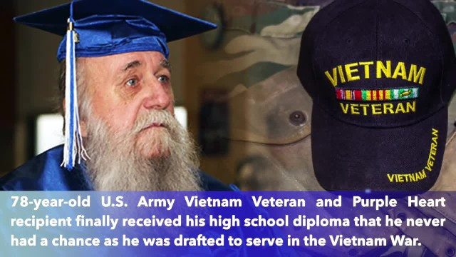 78-year-old Vietnam veteran finally graduates with High School Diploma