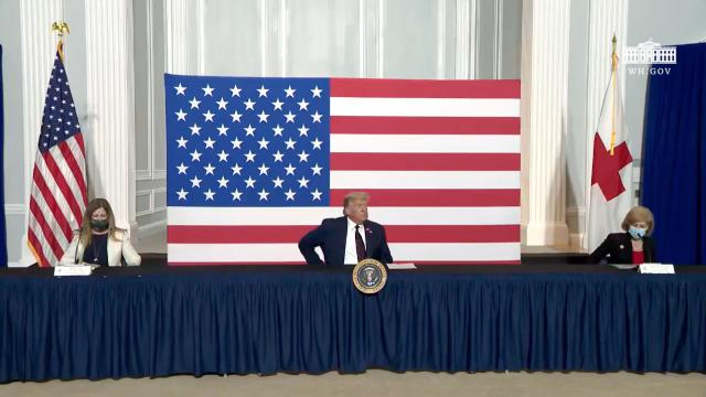 President Trump participates in a roundtable on donating plasma