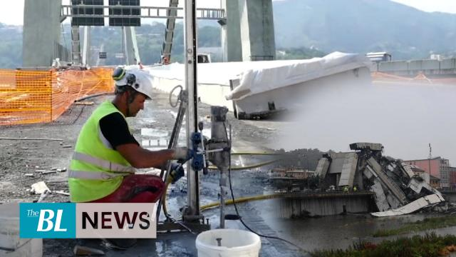 Italian engineers prepare to demolish Morandi Bridge