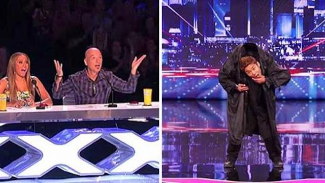 A completely stunned audience couldn't believe their eyes when he started dancing.