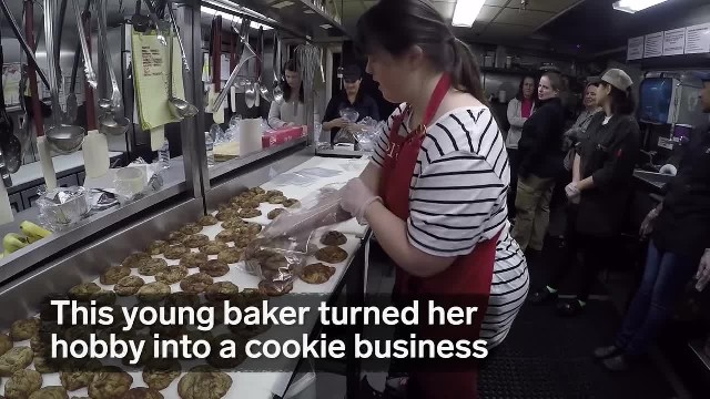 This young baker with Down syndrome turned her hobby into a cookie business
