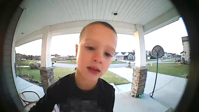 Kid hilariously uses smart doorbell to ask 'Emergency' question when dad not home