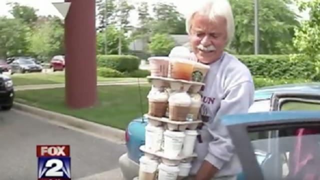 Every week a man loads his car full of starbucks for his sick dad. Then barista learns the truth