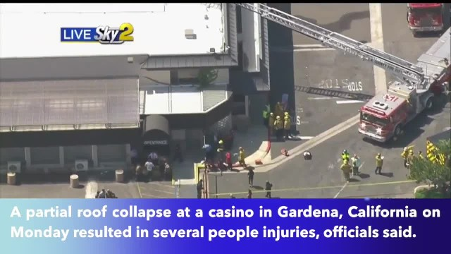 Casino roof collapse leaves multiple people injured in Gardena, California