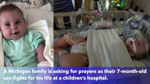 7-month-old born with 'half a heart' fighting for his life at Michigan hospital